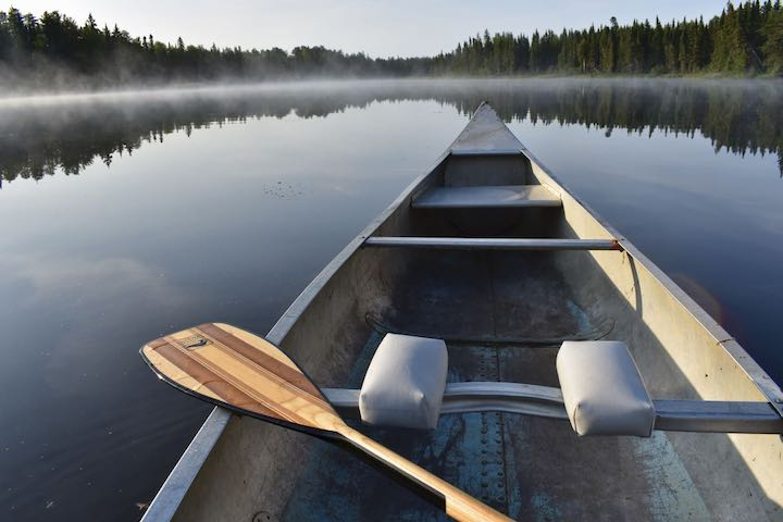 canoe & paddle