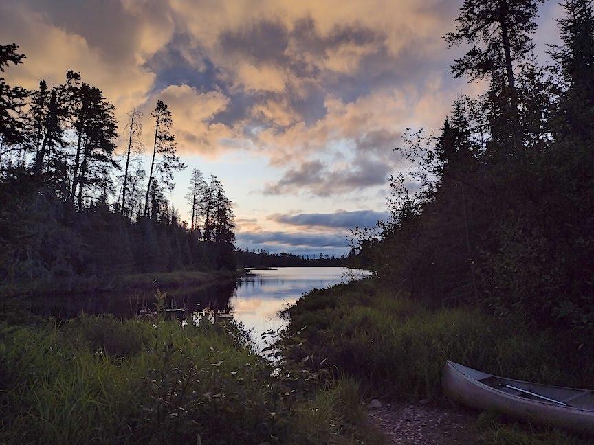 sunrise over quiver lake